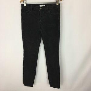 Loft Black Modern Skinny Grey Corduroy Pants 27/4